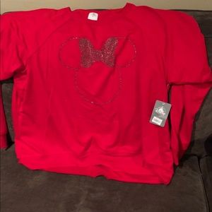 Red Minnie Mouse thin sweater 2xl